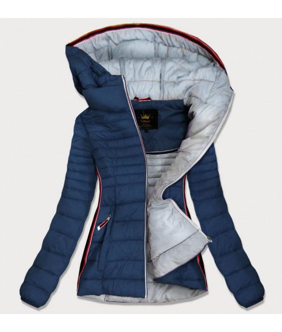 Prešívaná dámska jesenná bunda MODA242 tmavomodrá L
