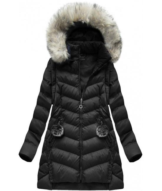 Dámska zimná bunda MODA761BIG čierna veľkosť 3XL