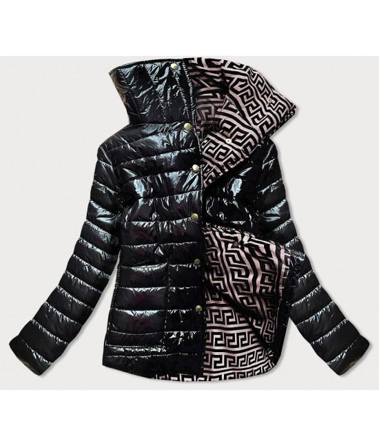 Krátka dámska zimná bunda s vysokým golierom MODA650A