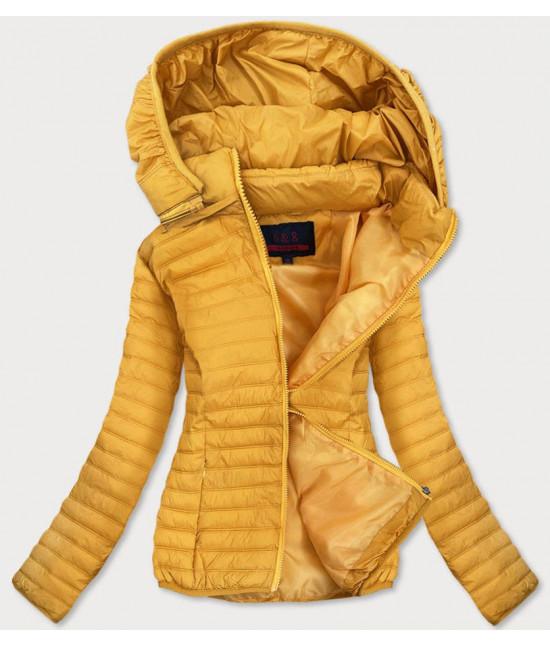 Dámska jarná bunda MODA11-2BIG žltá