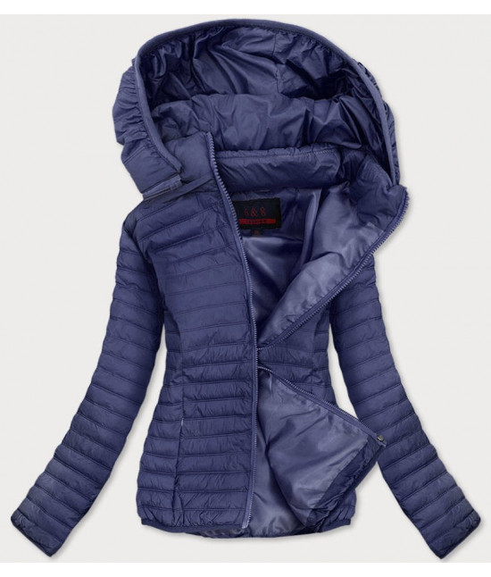 Dámska jarná bunda MODA11-1 tmavomodrá