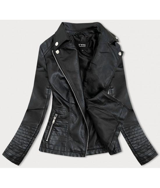 Dámska koženkovaá bunda MODA0113 čierna