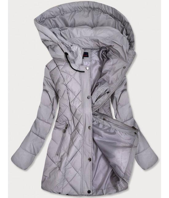 Prešívaná dámska prechodná bunda MODA025-2 šedá