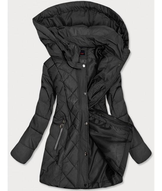 Prešívaná dámska prechodná bunda MODA025-2 čierna