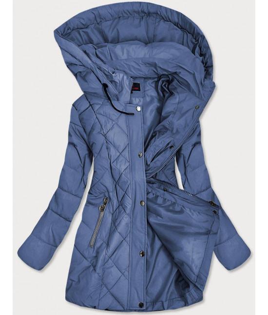 Prešívaná dámska prechodná bunda MODA025 modrá