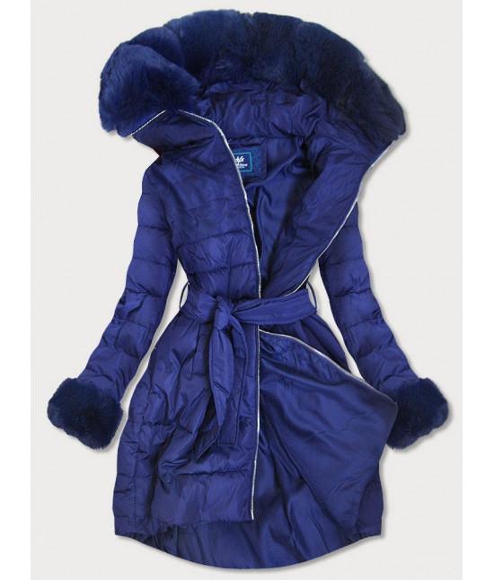 Dámska zimná bunda MODA006 modrá veľkosť L