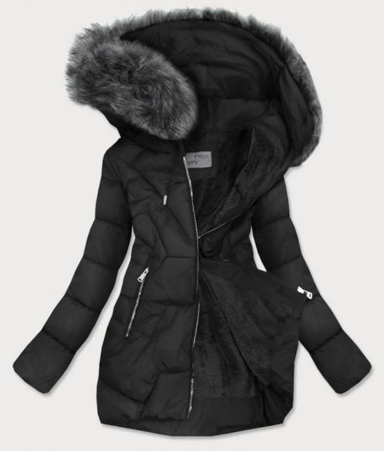 Dámska zimná bunda MODA527 čierna veľkosť XXL