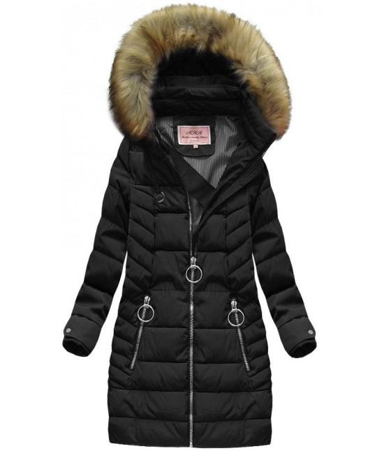 Dámska zimná bunda MODA721-2 čierna veľkosť XL