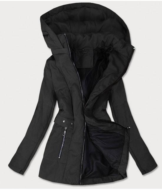 Dámska prechodná bunda MODA535BIG čierna veľkosť 4XL
