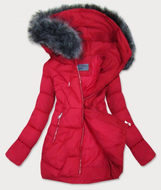 Dámska zimná bunda MODA527 červená veľkosť XL
