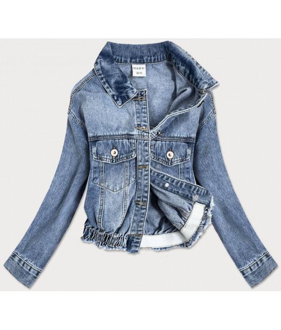 Dámska jeansová bunda MODA819 modrá