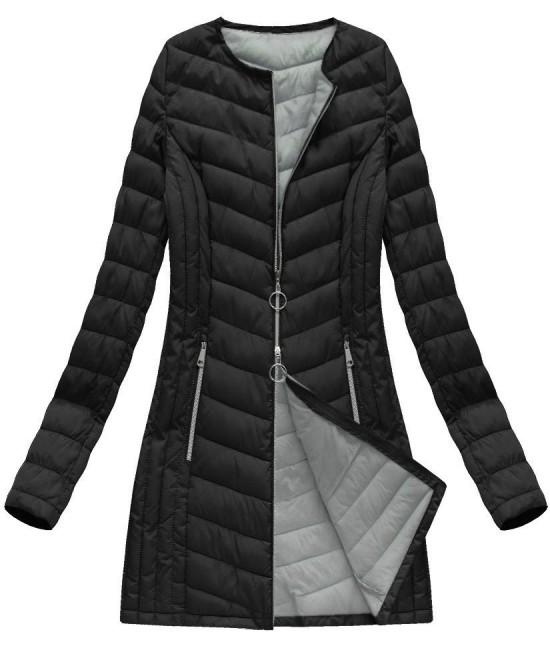 f4e1a5f724d7 Dlhá dámska prechodná bunda čierna 21814BIG - Dámske oblečenie ...