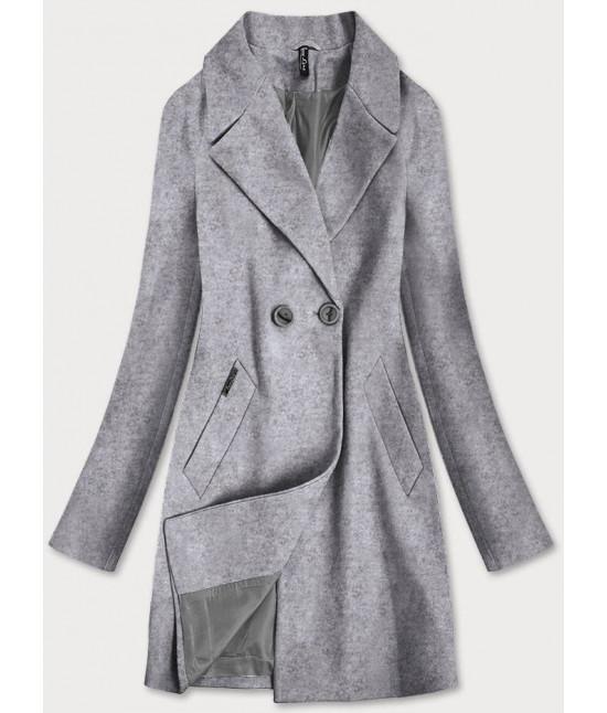 Dámska dvojradový kabát MODA2721 šedý