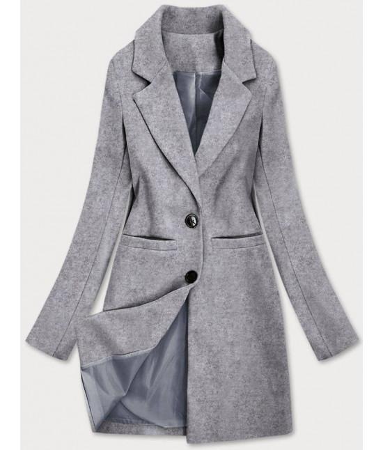 Klasický dámsky kabát MODA533 šedý
