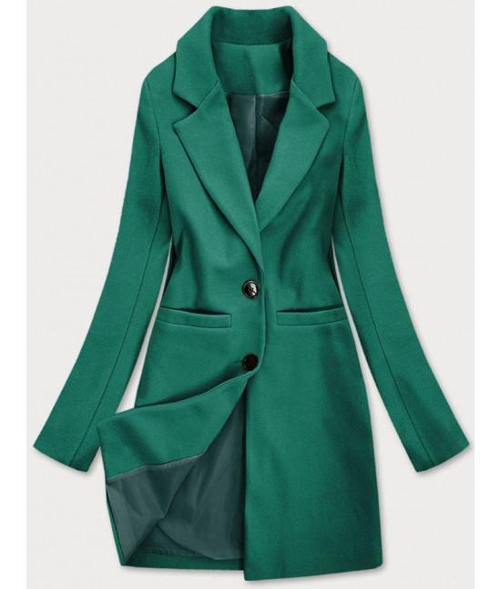 Klasický dámsky kabát MODA533 zelený