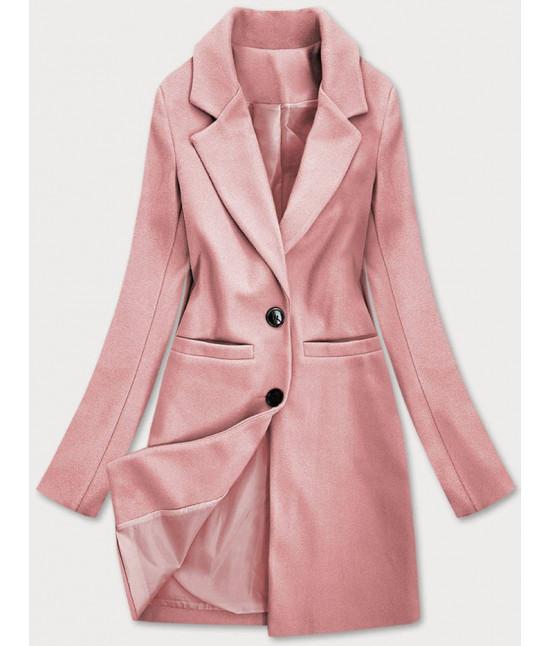 Klasický dámsky kabát MODA533 ružový