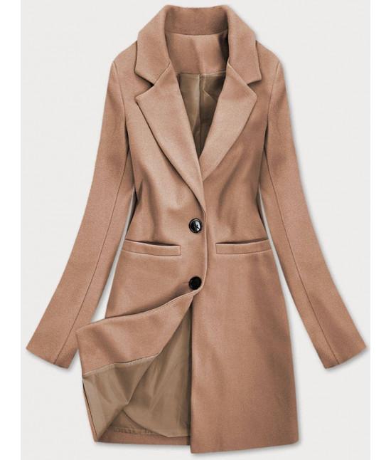 Klasický dámsky kabát MODA533 hnedý