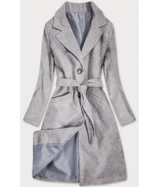Dámsky klasický kabát s opaskom  MODA2800 šedý