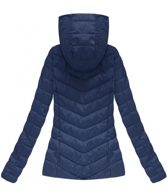 30e79c365b21 Dámska prechodná jarná bunda tmavomodra W70BIG - Dámske oblečenie ...