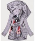 Dámska jarná bunda s podtlačou MODA733 šedá