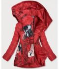 Dámska jarná bunda s podtlačou MODA733 červená