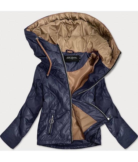 Ľahká dámska jarná bunda MODA004 tmavomodrá S