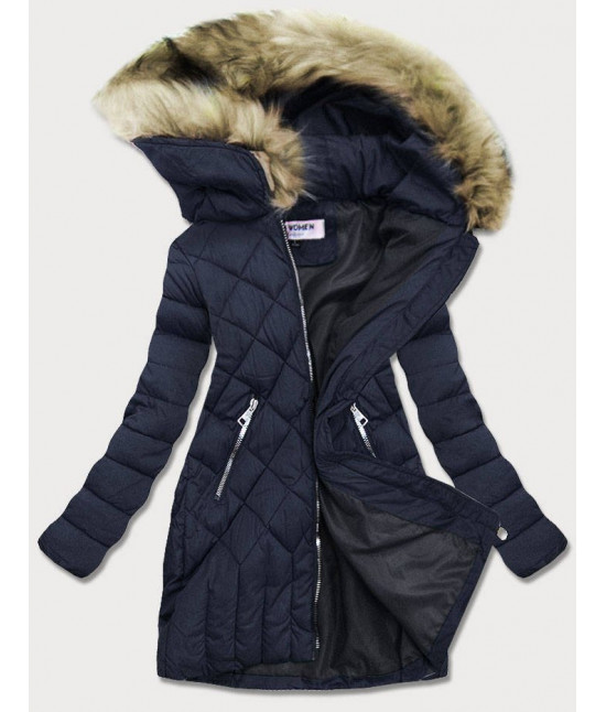 Dámska zimná bunda MODAF808 tmavomodrá veľkosť S