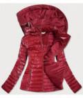 Lesklá dámska prechodná bunda MODA815 červená