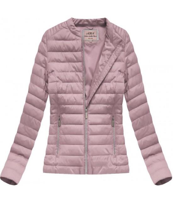 Dámska prechodná bunda ružová W52 - Dámske oblečenie  cd68737881