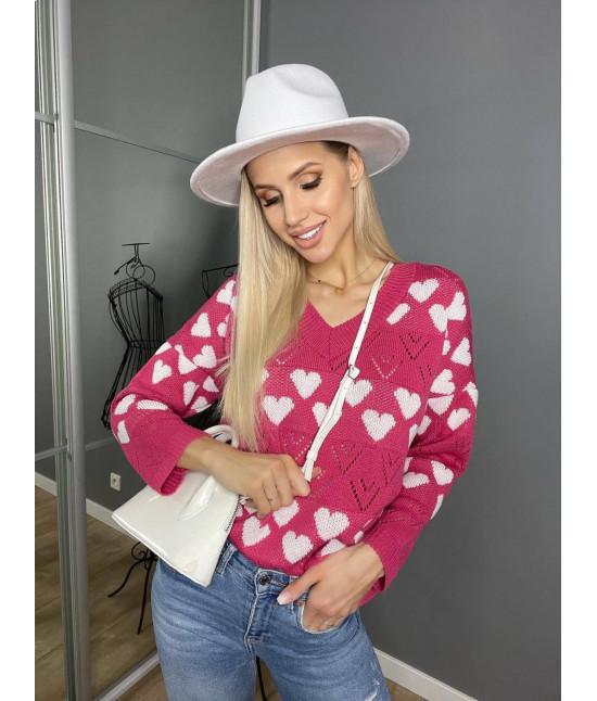 Dámsky sveter MODA670 ružový