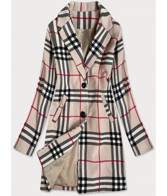 Klasický dámsky kabát MODA3162 béžový