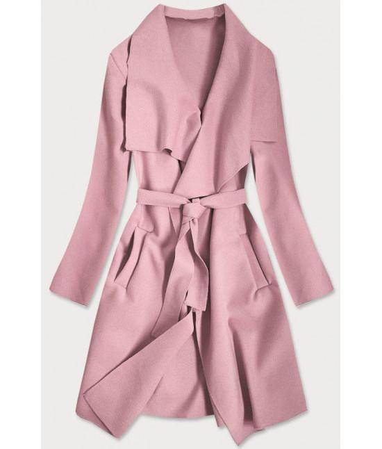 Dámsky kabát MODA678 staroružový