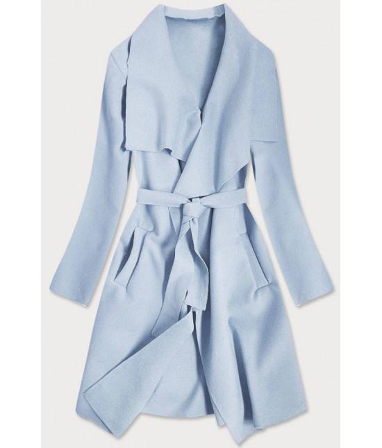 Dámsky kabát MODA678 svetlomodrý
