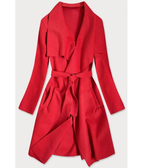 Dámsky kabát MODA678 červený