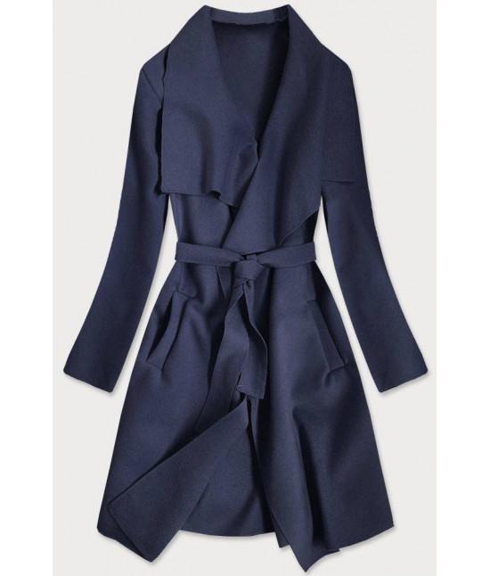 Dámsky kabát MODA678 tmavomodrý