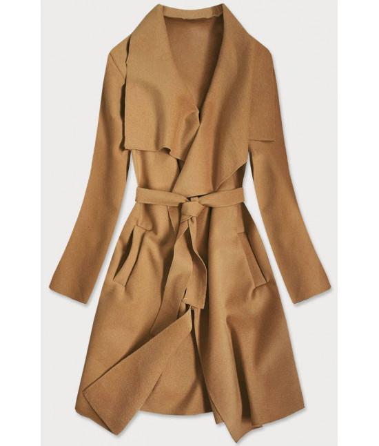 Dámsky kabát MODA678 karamelový