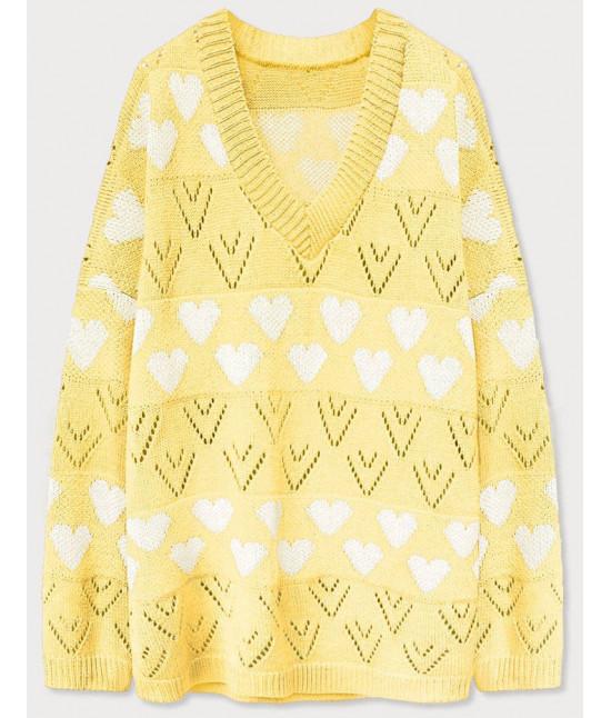 Dámsky sveter MODA670 žltý