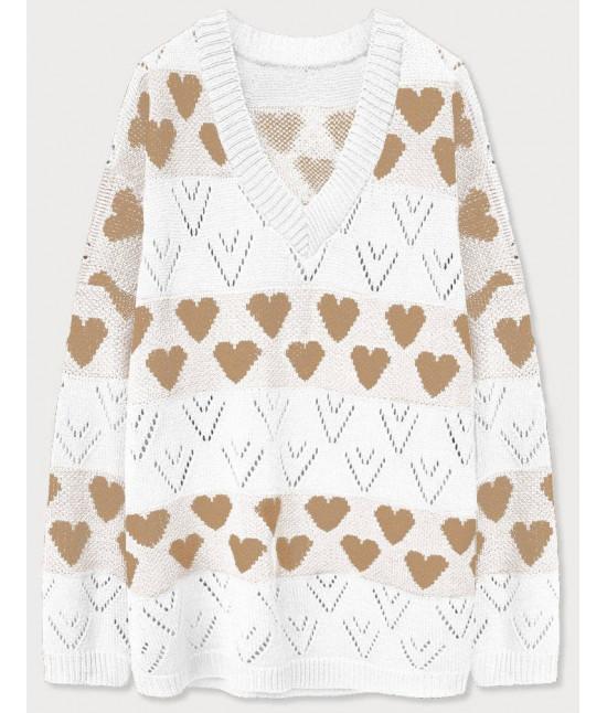 Dámsky sveter MODA670 biely