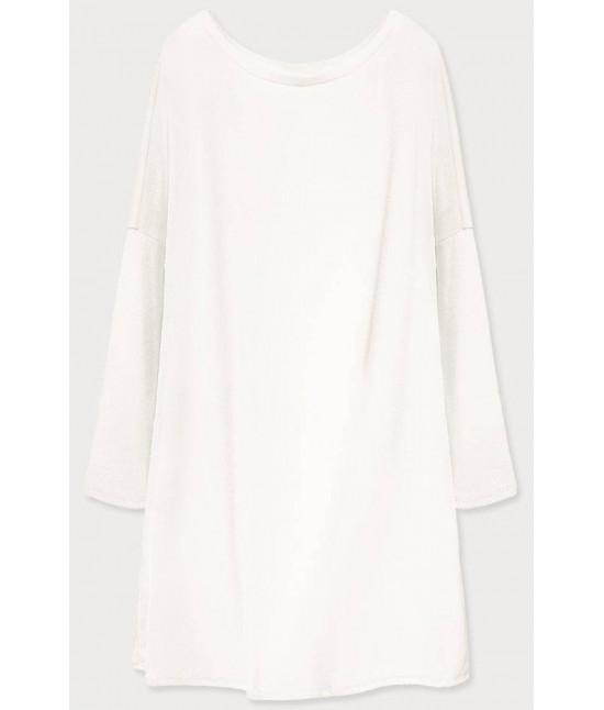 Dámske šaty s padajúcimi ramenami  MODA667 biela
