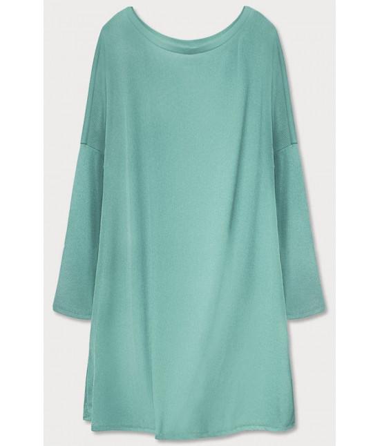 Dámske šaty s padajúcimi ramenami  MODA667 zelená