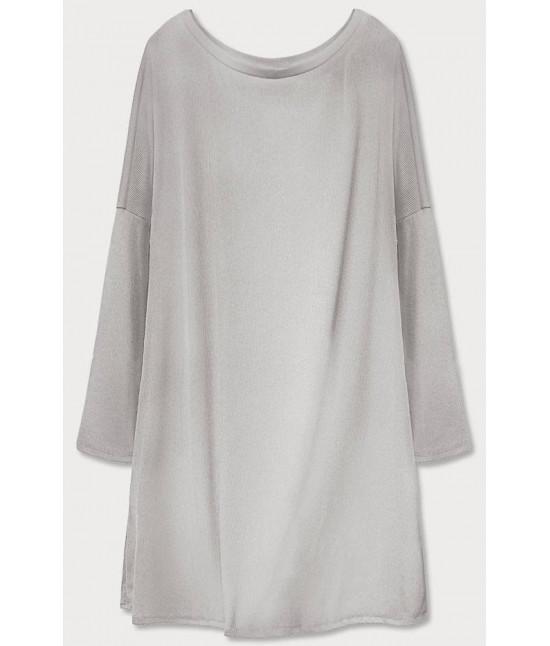 Dámske šaty s padajúcimi ramenami  MODA667 šedé