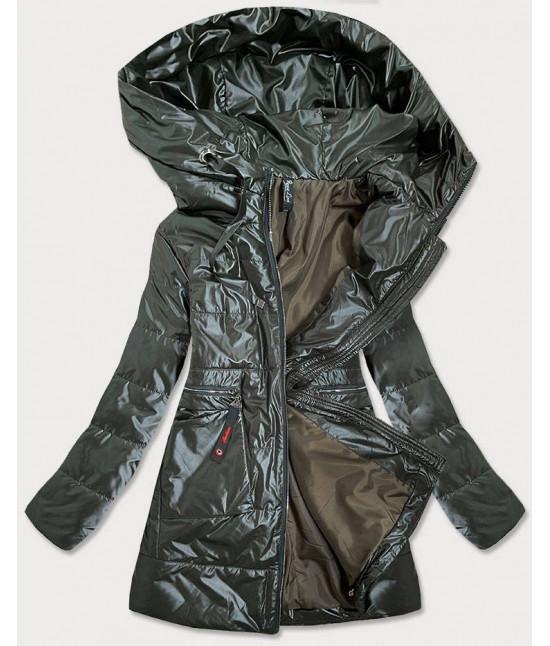 Dámska jarná bunda s kapucňou MODA728 zelená 5XL