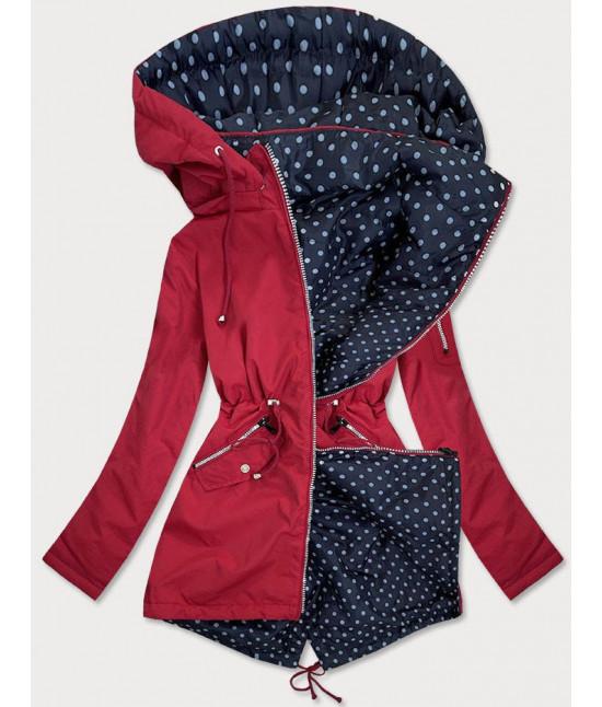 Obojstranná jarná bunda MODA70 červená veľkosť 3XL
