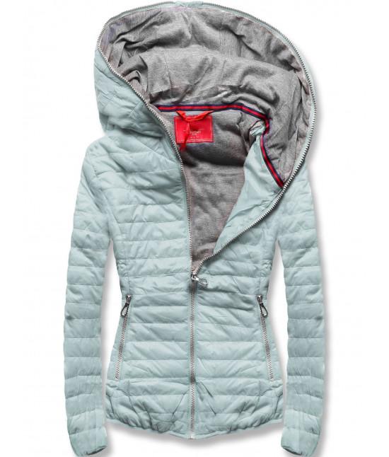 Dámska jarná bunda MODA011 šedo-mätová veľkosť XL