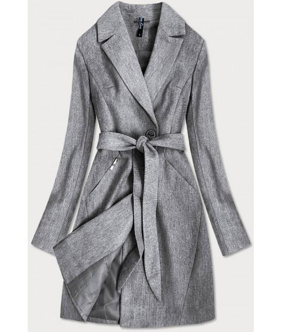 Dámsky kabát MODA706 šedý veľkosť L