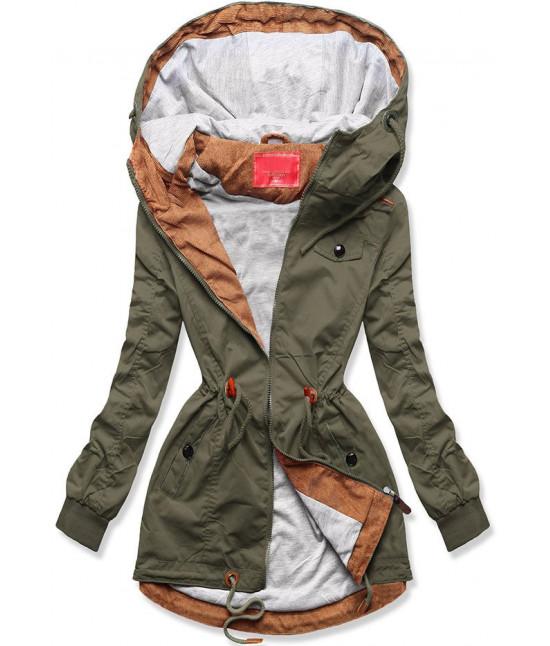 Dámska jarná bunda MODA335 army veľkosť S