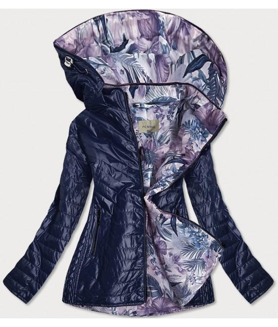 Dámska jarná bunda MODA21 tmavomodrá veľkosť 4XL
