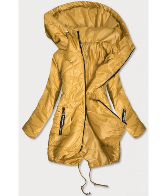 Dámska prešívaná prechodná bunda MODA2709 žltá veľkosť XXL