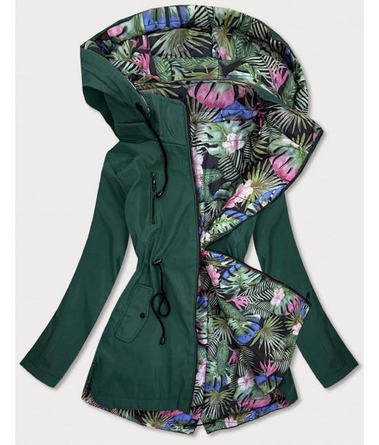 Obojstranná dámska jarná bunda MODA65 zelená veľkosť 5XL