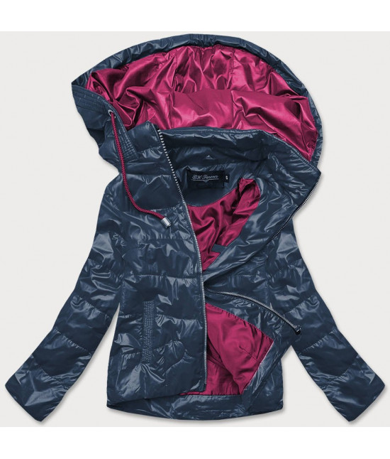 Dámska jarná bunda MODA005 modro-ružová